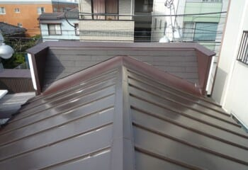 練馬区の瓦棒屋根の修理工事、完成
