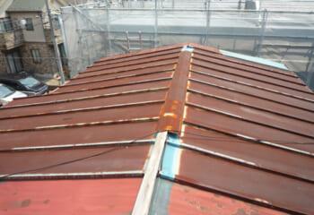 工事前の瓦棒屋根