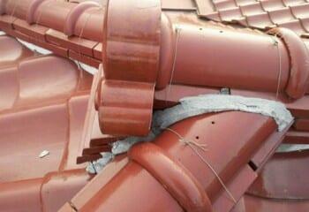 屋根修理の痕跡