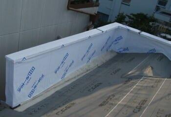 防水用ルーフィングの施工