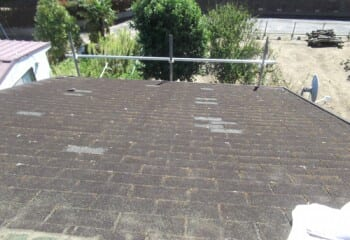 既存屋根瓦の様子