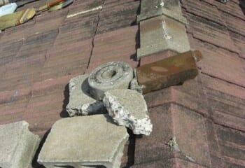 工事前の瓦の状態