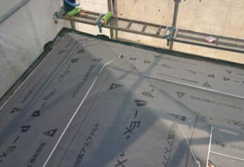 下葺き材(防水シート)敷き込み