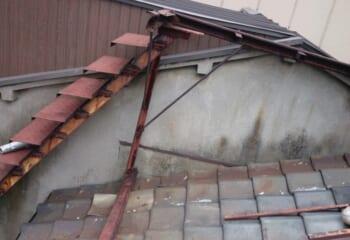 工事前の屋根