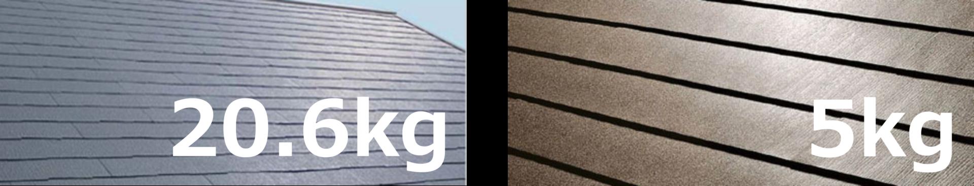 コロニアルとガルバリウム鋼板の重さ