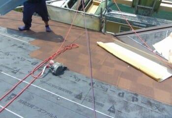 目黒区屋根 ガルバリウム鋼板 本体張り