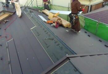 荒川区 屋根修理 屋根材本体張り