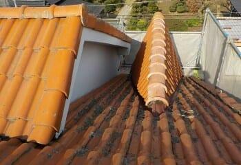 松戸市 雨漏り屋根の現場調査2