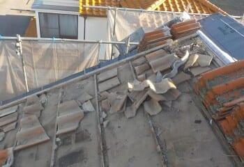 松戸市 雨漏り屋根修理 工事開始