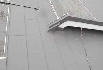 複合屋根 取り合い部施工