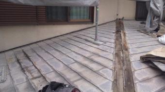茨木市 雨漏り現場屋根 施工開始