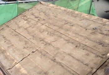 小平市  既存屋根瓦撤去後画像