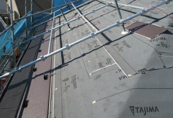 ガルバリウム鋼板本体張り1