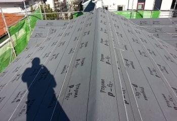 屋根下葺き材張り