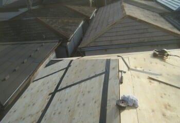 3.屋根カバー工法(構造用合板張り増し)