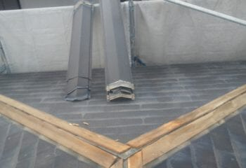 箕面市 屋根カバー工法 既存屋根