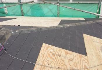 狛江市 屋根カバー工法 野地板増し張り