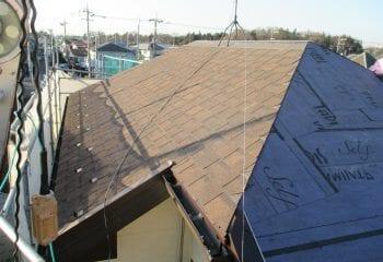 アスファルトシングル 屋根材本体張り