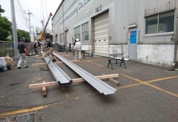折板屋根材の完成