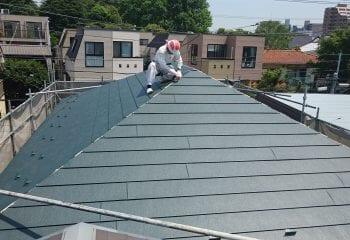 ガルバリウム鋼板屋根本体張り