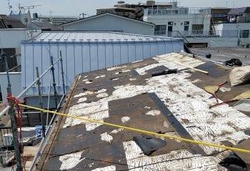 5.既存の瓦棒屋根を撤去