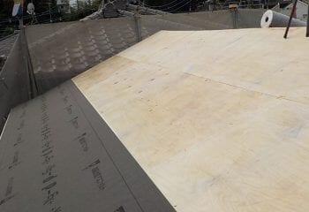 4.屋根下地張りと下葺き材張り
