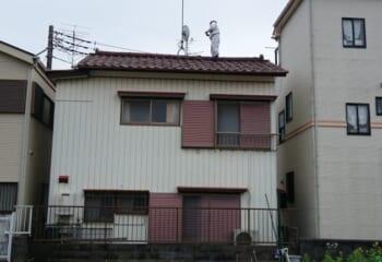 稲城市/既存屋根の現場調査