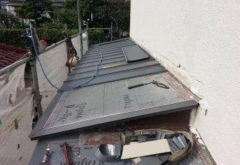 下屋根リフォーム 開始