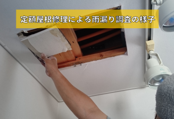 テイガク屋根修理の雨漏り調査サービス
