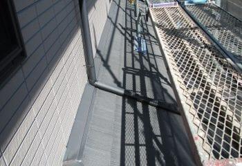 下屋根のリフォーム工事開始