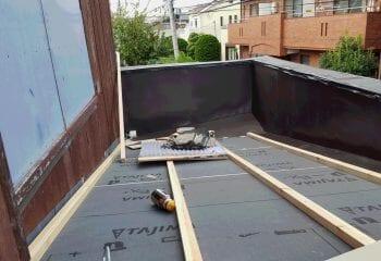 6.パラペット屋根修理工事開始