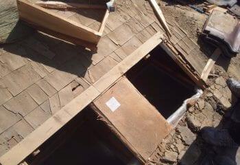 屋根瓦撤去 処分完了