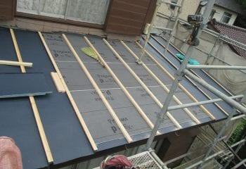 10.瓦棒屋根工事開始