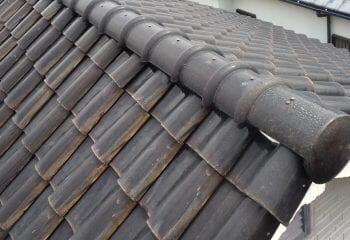 池田市の屋根葺き替え工事 現場調査