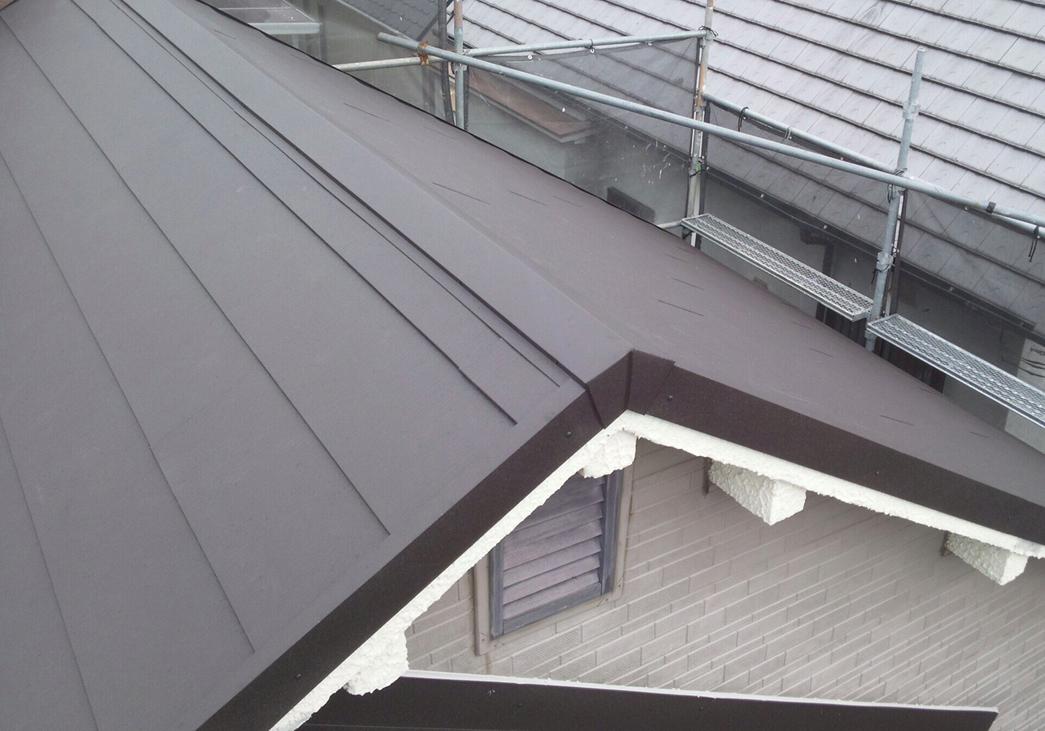 池田市の屋根葺き替えリフォーム工事完成