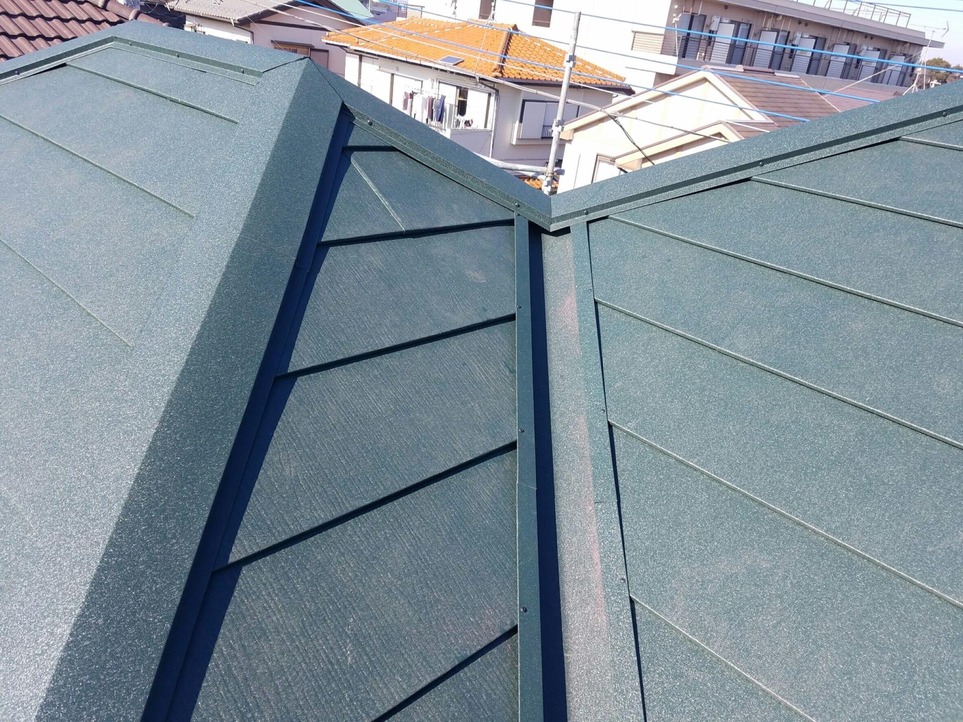 市川市の屋根リフォーム工事 完成