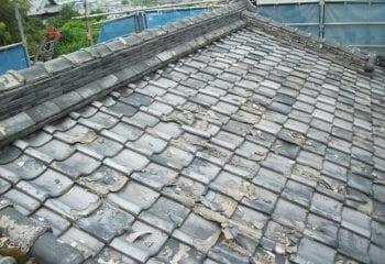 東大阪市 屋根の葺き替え工事 現場調査