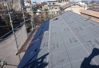 7.屋根本体張り