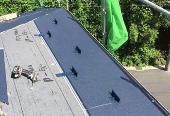 3.下葺き材張りと屋根本体張り