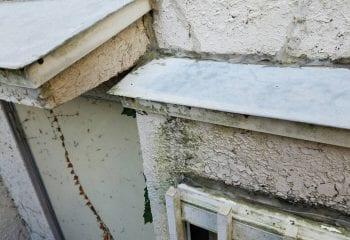 2.川口市 庇板金の雨漏り改修工事