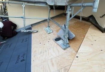7.下屋根の施工