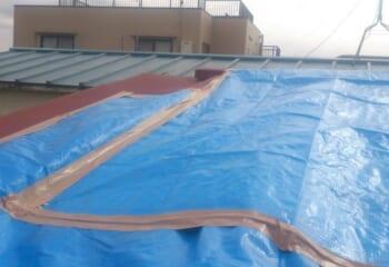 雨漏り屋根のリフォーム 現場調査1