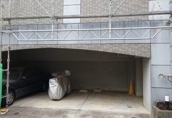 8.駐車場の足場組立
