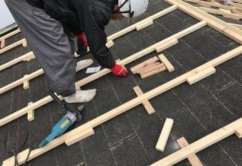 9.屋根工事開始 下地調整1
