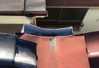 5.谷どい板金の排水部分