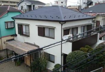 足立区 屋根修理と外壁塗装リフォーム工事 完成