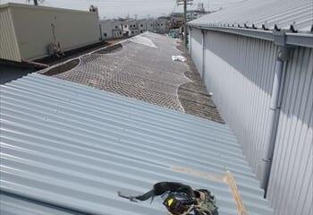 6.下屋根の施工