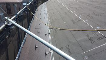 7.屋根工事開始