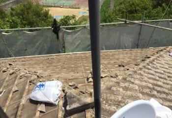 2.東京都日野市 セメント瓦の葺き替えリフォーム工事開始