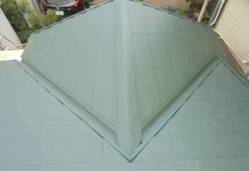 市川市 屋根葺き替えと雨どい交換工事 完成